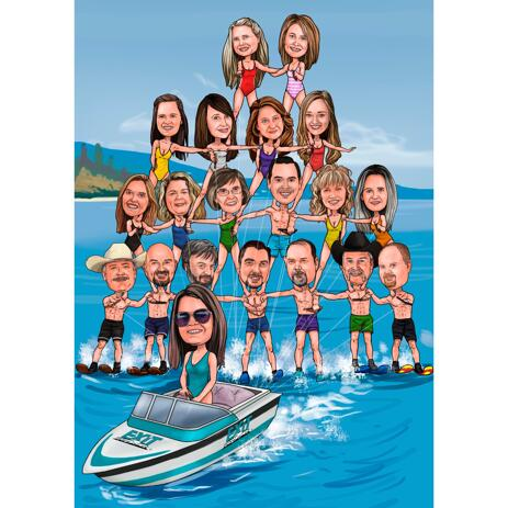 Funny Group Caricature for Company Gift Caricature - example