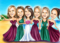 Bridesmaids karikatuur example 7