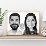 Business Partners Caricature on poster