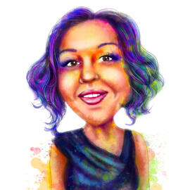 Watercolor Rainbow Portrait from Photos