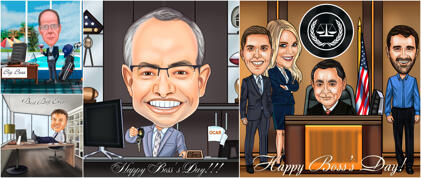 Boss Day Caricature