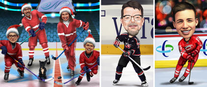 Hockey Caricatures