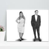 Caricature for Business Owners on Canvas