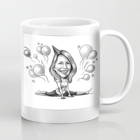Custom Caricature Mug for Gift - example