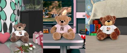 Häät Teddy-karikatyyrit