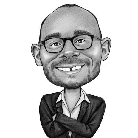Funny Employee Caricature from Photo - example