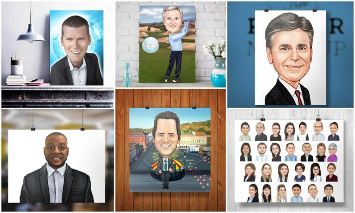 Business Caricature Poster large example