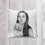 Teen Caricature from Photos as Pillow