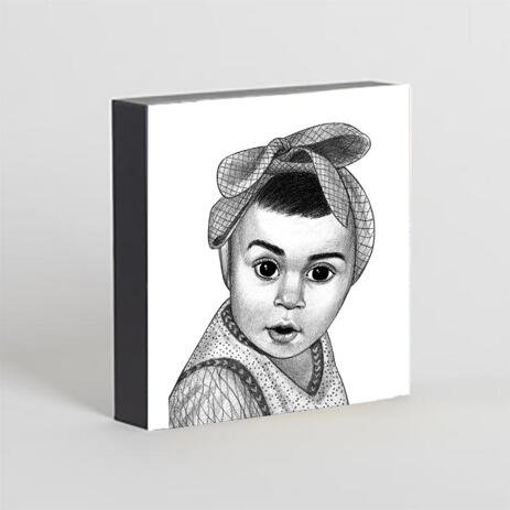 Kid Portrait from Photos as Printed Photo Block - example