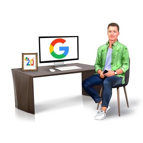Työpöydän muotokuva valokuvasta työtilassa - example