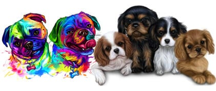Dogs Caricatures and Portraits