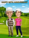 Caricatura da golf example 3