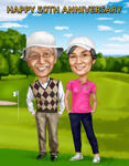 Caricatura de golf example 3