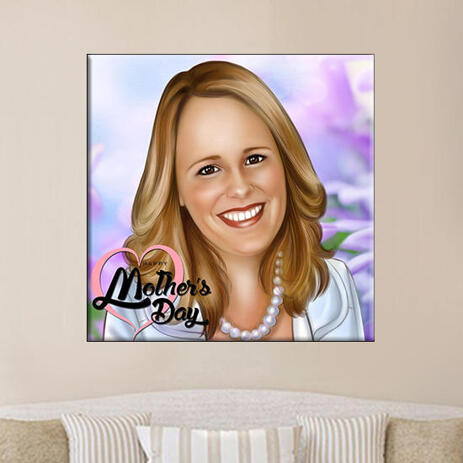 Print on Canvas: Digital Drawing from Photo of Woman - example