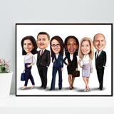 Business Group Caricature on poster