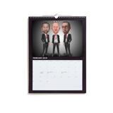Business Group Caricature on Calendar