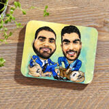 Custom Caricature for Business on Photo coasters