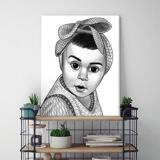 Kid Portrait from Photos as Printed Canvas