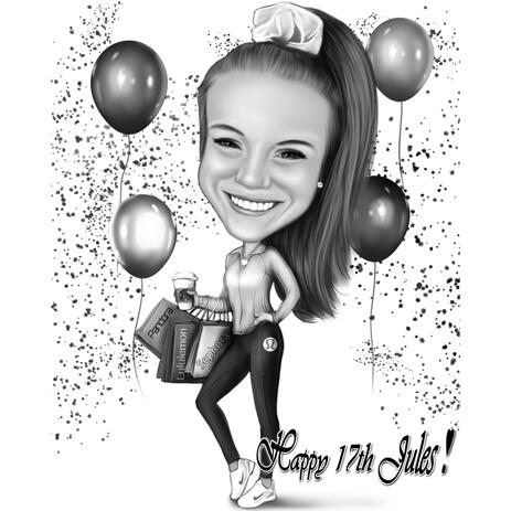 17th Anniversary Birthday Caricature from Photos - example