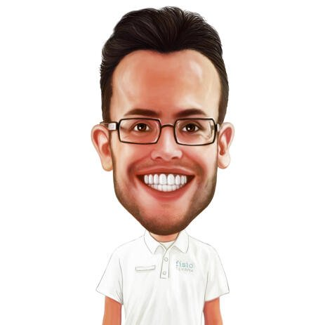 Funny Caricature from Photos in Colored Digital Style - example