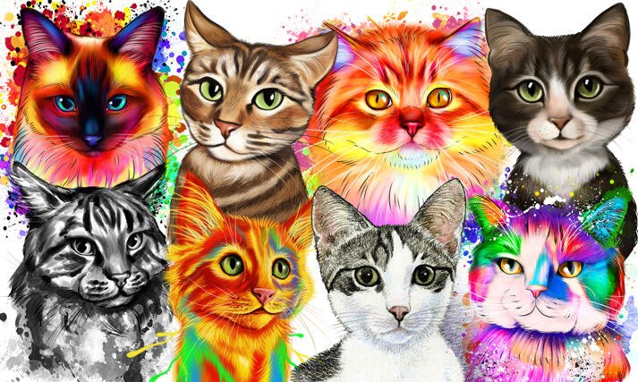 Cat Caricatures and Portraits large example