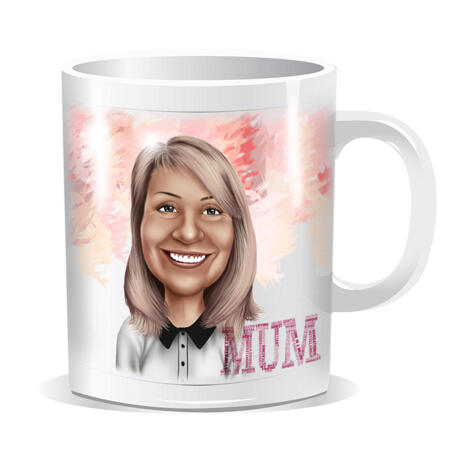 Personalized Photo Mug: Printed Cartoon Drawing on Mug - example