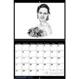 Bride Portrait from Photos on Calendar