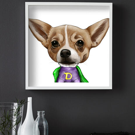 Dog Caricature from Photos Printed as Poster - example
