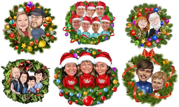 Christmas Wreath Caricature large example