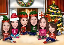 Christmas Group Caricature example 10