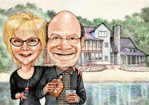 Couple Caricatures example 4