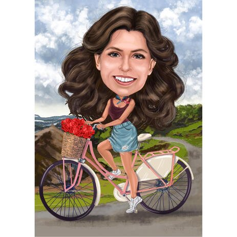 Person on Bicycle with Custom Background from Photos - example