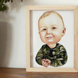 Toddler Caricature from Photos as Poster