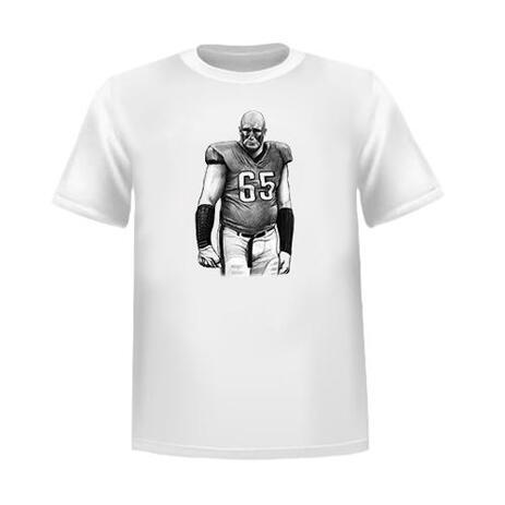 Sport ritratto disegno di persona in bianco e nero stile come regalo t-shirt - example