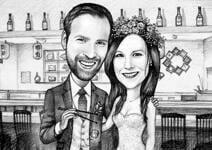 Bruiloft karikaturen example 9
