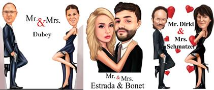 Mr. & Mrs. Couple Caricature