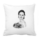 Bride Portrait from Photos on Pillow