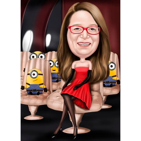 Custom Full Body Caricature for Minions Lovers - example