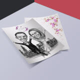 Custom Wedding Gift - Caricature Printed on Invitations