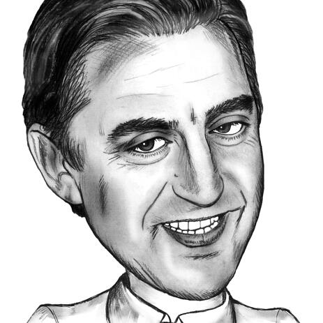 Funny Business Caricature From Photos in Pencils Style - example