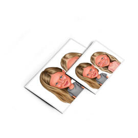 BFF Kid Caricature Printed on Magnets