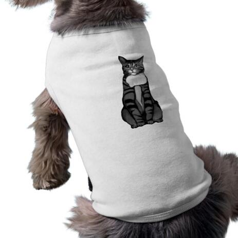 Cat Portrait from Photos on Pet Shirt - example