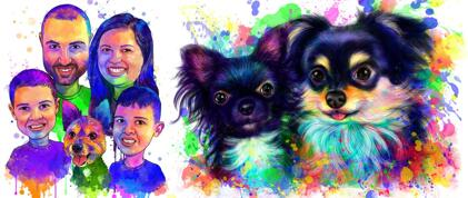 Rainbow Watercolor Portraits