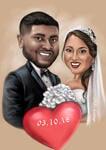 結婚式の風刺画 example 3