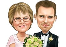 Wedding Caricature Poster example 2
