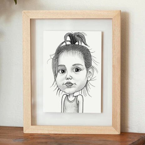 Baby Girl Caricature Printed on Poster - example