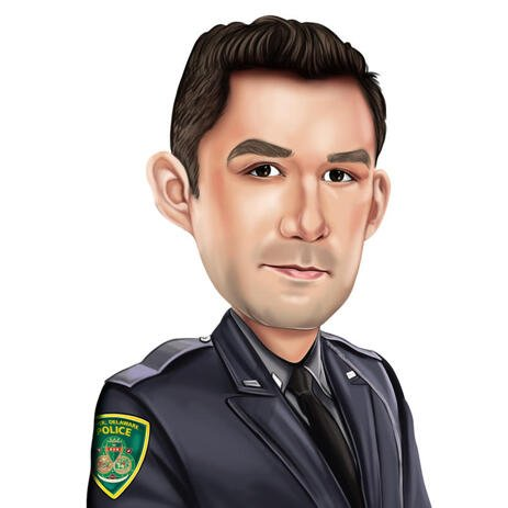 Policeman Caricature from Custom Police Officer Gift - example