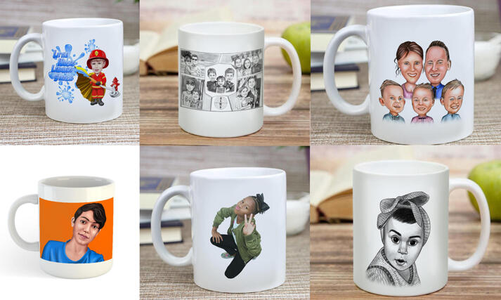 Kids Mug Caricature large example