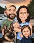 Family Caricatures example 2