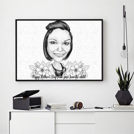 صورة كاريكاتورية على ورق صور: رسم كارتوني تكريما لعيد الأم - example